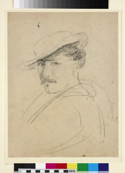 Recto: Portrait of Fritz Melbye<br />Verso: Caracas