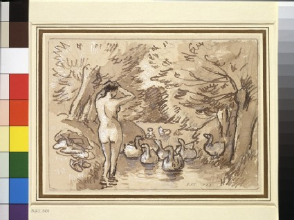 Compositional study for 'Woman bathing with geese' (Baigneuse aux Oies)