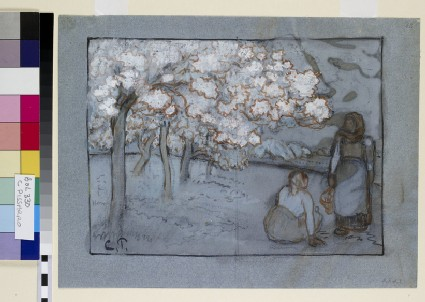 Compositional Study of two Female Peasants conversing in an Orchard