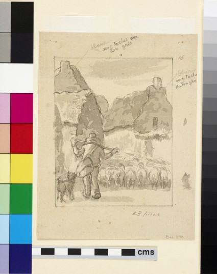 Compositional study of a shepherd and his flock