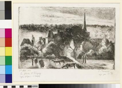 Eglise et ferme d'Eragny