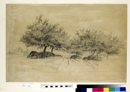 Recto: Chailly<br />Verso: Brief Study of a Horse seen in  three-quarters profile facing right
