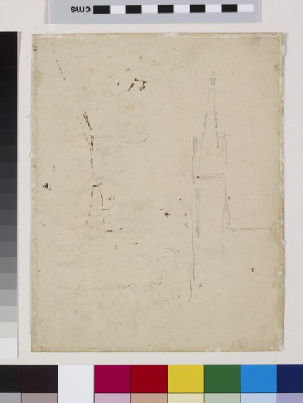 Recto: Study of Upper Norwood, London, with All Saints Church<br />Verso: Slight Study of All Saints Church, Upper Norwood, London
