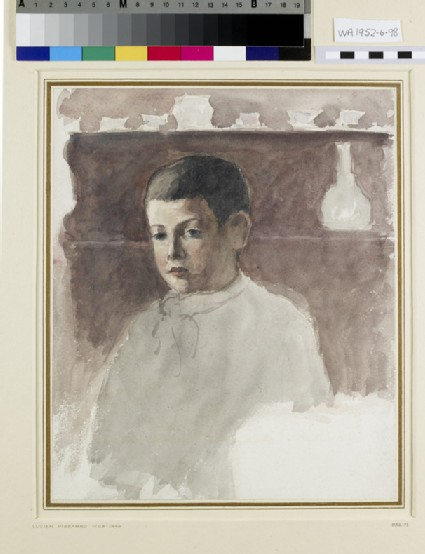Half-length portrait of Lucien Pissarro