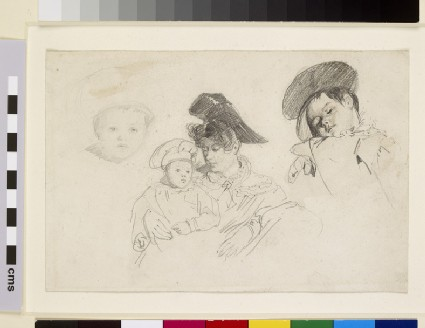 Stagecoach Passengers: Studies of a Woman and Child
