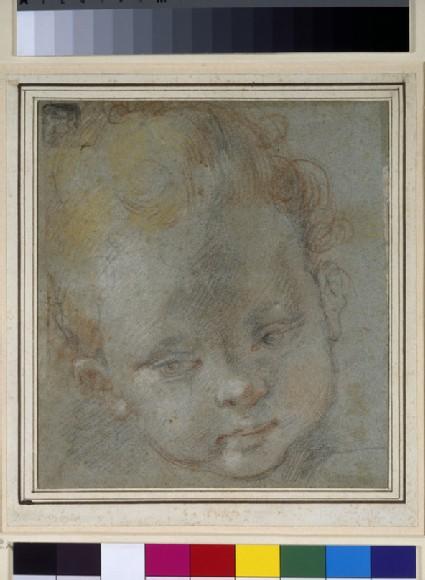 Recto: Head of a Child<br />Verso: The Annunciation