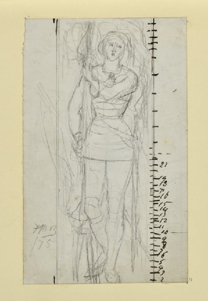 Study of 'Joan of Arc' for a Stained Glass Window