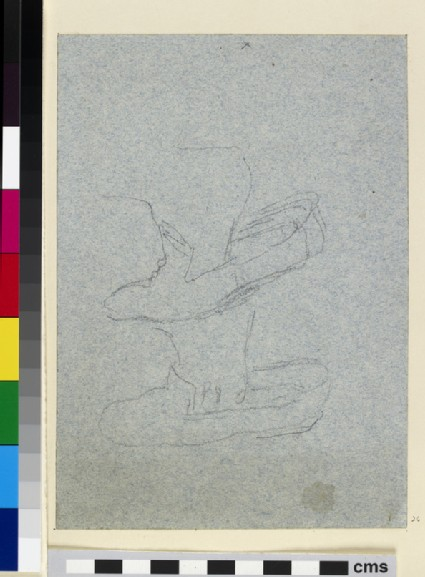 Recto: Studies of a Foot and a Shoe