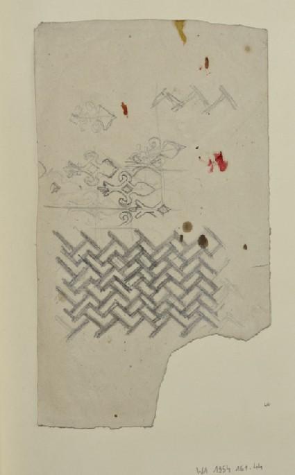 Recto: Decorative Motifs Verso: Designs incorporating a Dolphin
