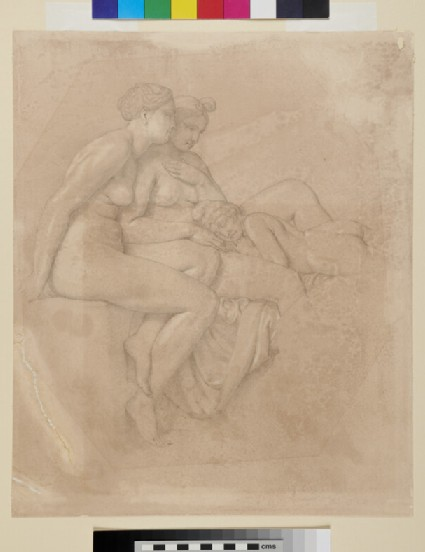 Ganymede asleep, watched by two of the Graces