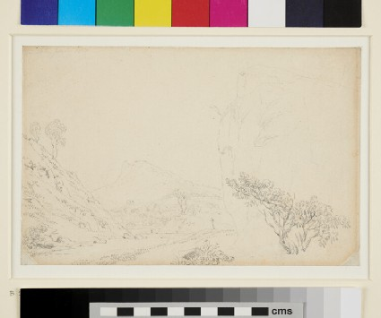 Recto: A rocky Valley and a Stream <br />Verso: Slight Sketch of a Field