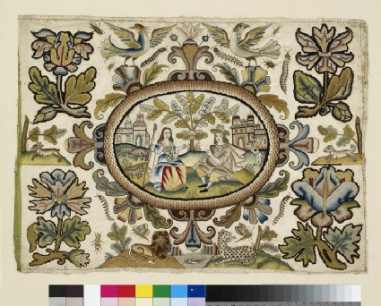 Textile panel with Pastoral Scene