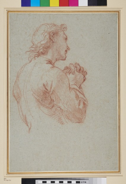 Study of a Man with clasped Hands
