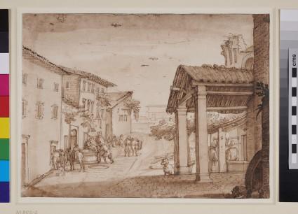 Street Scene in Tuscany