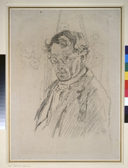 Self-portrait wearing Glasses