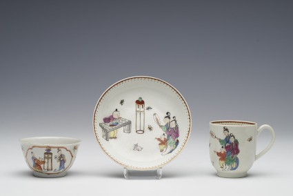 Coffee cup and saucer and tea bowl