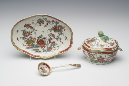 Tureen, lid, and ladle