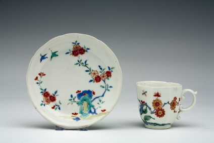 Chelsea teacup and Japanese saucer