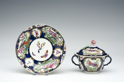 Broth bowl, cover and stand