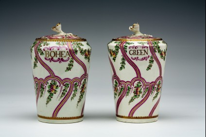 Tea canister, one of a pair