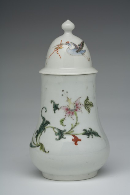 Dry mustard pot and cover