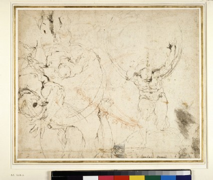 Recto: Studies for the 'Camerino Farnese'