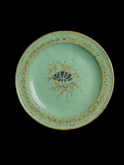 Plate, with floral motif