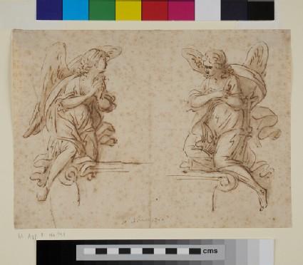 Studies of two kneeling Angels