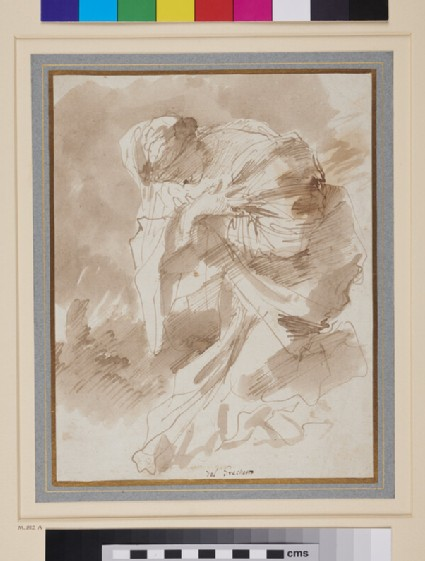Study for a kneeling female Figure