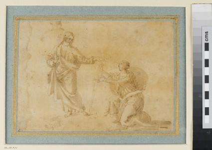 Recto: Sheet of Studies for the Baptism of Christ