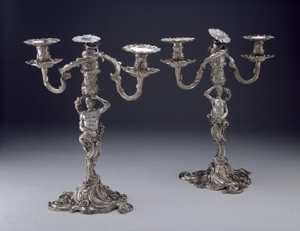 Branches for candelabra, female one of a pair