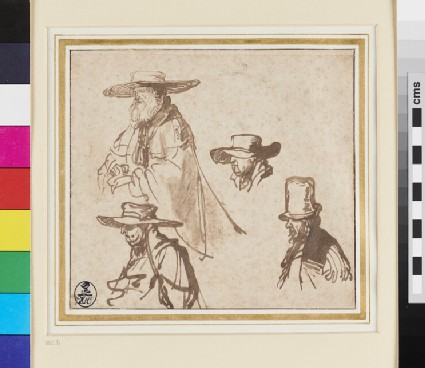 Recto: Studies of Heads of old Men 