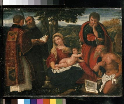 The Virgin and Child with Sts Stephen, Augustine, Jude and Jerome