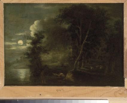 Shepherds in a Grove, Moonlight