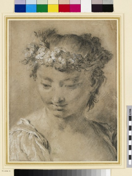 Head of a Girl with a Wreath of Flowers