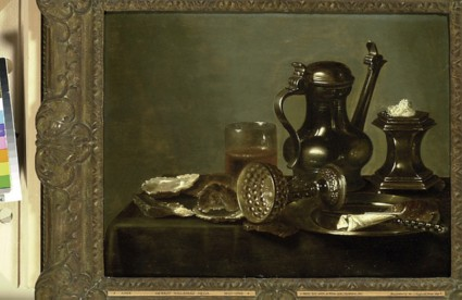 Breakfast-piece with a Flagon and an overturned Wine-cup