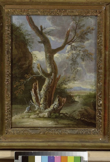 Landscape with a cleft Tree