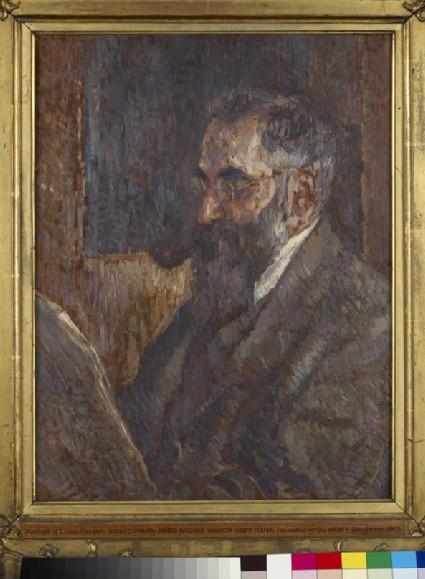 Lucien Pissarro reading