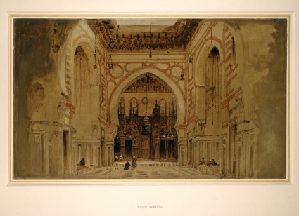 The Interior of the mosque of the Sultan El Ghoree (Sultan Al-Ghuri) in Cairo