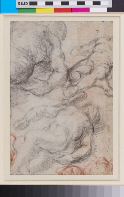 Recto: Seated male Figure