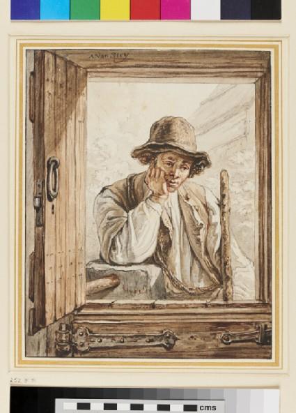 Young Man at a Farm Door
