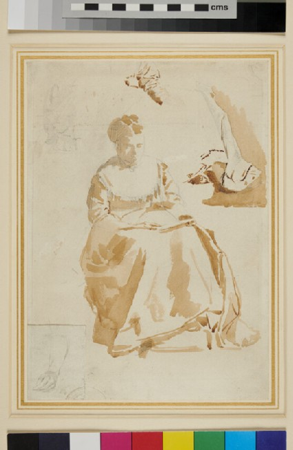 Study of a seated Woman, reading