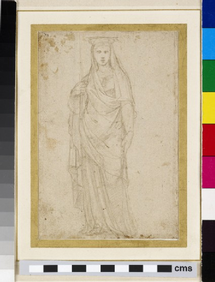 Recto: A Caryatid