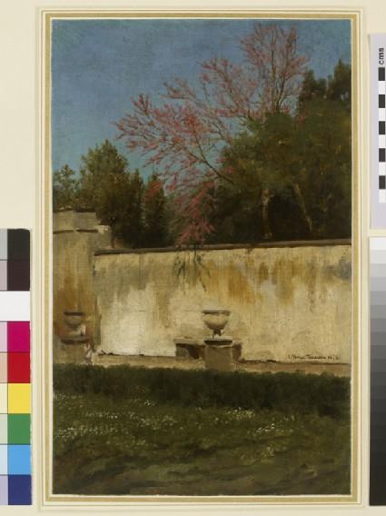 A Corner of the Gardens of the Villa Borghese