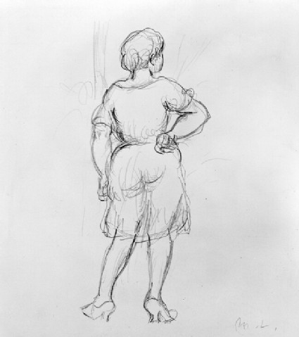 Sketch of a Woman seen from behind