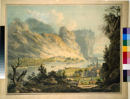 View on the Rhine between Remagen and Andernach