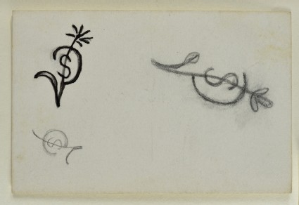 Sketches of monograms for Sophie Dalrymple
