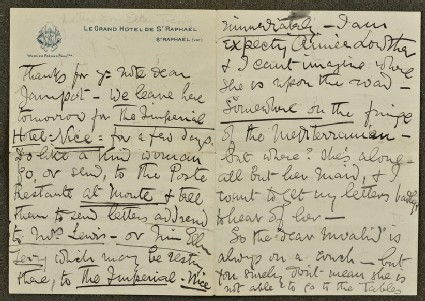 Letter from Ellen Terry to Lizzie Potton: 'Thanks for your note dear Jampot'