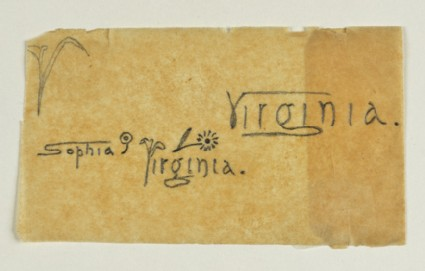 Decorative Signature Designs for Sophia and Virginia Dalrymple