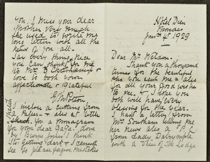 Letter from Lizzie Potton to Sir Weldon Dalrymple-Champneys, 4 January 1979
